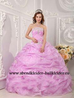 Klassisches Abendkleid Ballkleid Online in Flieder
