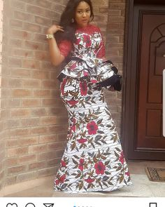 Hello fashionista, we bring you supper utra stylish peplum ankara skirt and blouse to add to your wardrop.below here are top selected stylish peplum ankara skirt and blouse for wedding and every other Latest African Fashion Dresses, African Dresses For Women, African Print Dresses, African Print Fashion, African Attire, African Wear, African Women, Ankara Skirt And Blouse, Ankara Dress