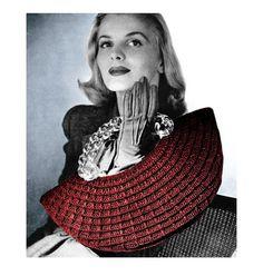 1940s Crochet Pattern Crescent Moon Purse Clutch by 2ndlookvintage