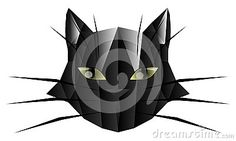 Image representing a black cat in an artistic version.