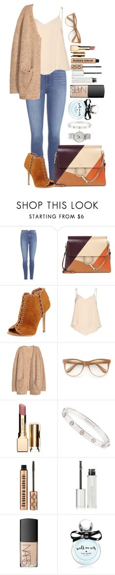 """""""Untitled #1664"""" by fabianarveloc on Polyvore featuring Paige Denim, Chloé, Michael Kors, Alice + Olivia, H&M, Wildfox, Clarins, Cartier, Givenchy and NARS Cosmetics"""