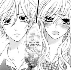 Anime couple the boy.. that's totally me when someone tells me something like that