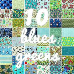 blues/greens Blue Green, Blues, Kids Rugs, Quilts, Floral, Fabric, Squares, Home Decor, Mini