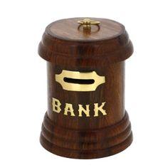 Postschließfach geformt Geld Bank aus Holz handgefertigte Geschenke aus Indien: Amazon.de: Bürobedarf & Schreibwaren