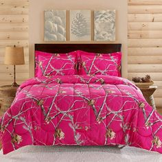 Realtree Camo Comforter Set (Pink) ($70) ❤ liked on Polyvore