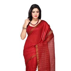 Pure Matka with Blouse Silk Sarees Online, Handloom Saree, Blouse Online, Bengal, Sari, Pure Products, Red, Shopping, Collection