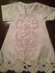 Bridal gowns turned into burial gowns for premies and stillborns.