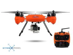 Splash Drone Waterproof AUTO - ORANGE Highlights: - Fully Waterproof - Payload Release System - Travel Case Included - 7 inch monitor included - Waterproof Gimbal Included - 19 Minute Flight Time - Fa