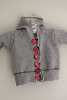 Reuse your old sweatshirt! craftiness is not optional: toddler sweatshirt tutorial