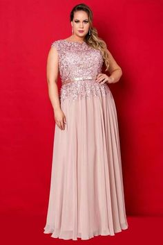 Vestidos Plus Size - Aiza Collection: Mais Plus Size Formal, Plus Size Prom, Plus Size Gowns, Plus Size Wedding, Plus Size Outfits, Curvy Girl Fashion, Plus Size Fashion, Mom Dress, Beautiful Gowns