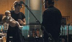 Harry holding his goddaughter (Ben Winston's daughter) Ruby.