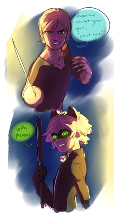 (Sibling!Miraculous: Tales of Ladybug and Cat Noir) Felix Agreste and Cat Noir