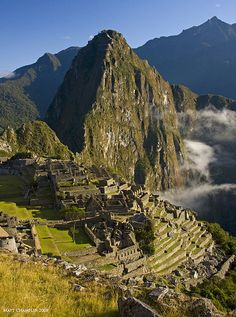 "Of course, if we're going to Peru, we have to see Macchu Picchu! The ""Lost City of the Incas"" is invisible from the Urubamba Valley below and completely self-contained, surrounded by agricultural terraces and watered by natural springs. Peru Travel, Hawaii Travel, Italy Travel, Oh The Places You'll Go, Places To Visit, Travel Around The World, Around The Worlds, Bolivia, Machu Picchu Tours"