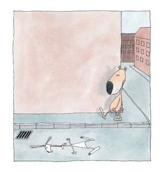 The Flat Rabbit: A Minimalist Scandinavian Children's Book about Making Sense of Death and the Mysteries of Life | Brain Pickings