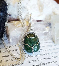 Wire Wrapped Green Fuchsite Stone Positive Healing Energy