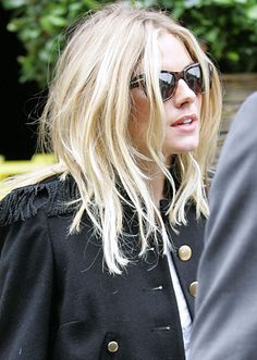 "Sienna Miller. Hair. I don't like ""perfect"" hair."