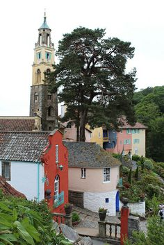 Portmeirion is an enchanting Italianate style village on the coast of North Wales, ideal for a day out or weekend break for families, couples and more. Cornwall England, Yorkshire England, London England, Oxford England, Yorkshire Dales, Skye Scotland, Highlands Scotland, Port Meirion, London