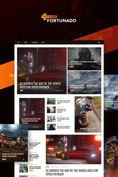 Fortunado - Gamer Responsive WordPress Theme Big Screenshot