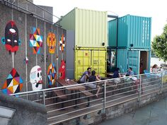 Wahaca Southbank Shipping Container Cafe, Container Van, Container Design, Shipping Containers, Container Conversions, Container Architecture, Prefabricated Houses, Commercial Architecture, Amazing Spaces