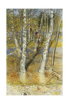 Springflood, 1902 Giclée-tryk af Carl Larsson på AllPosters.dk