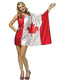 Canada Flag Dress Adult Womens Costume