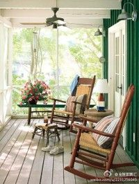country porch... picture myself having my morning coffee here.....