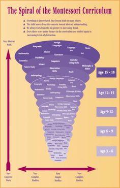 Montessori spiral of curriculum