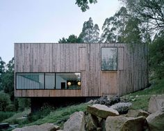 Box-Shaped Home Design in the Mountains