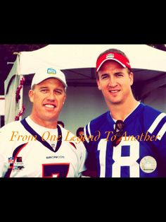 From One Legend To Another                      John Elway - Peyton Manning                  Denver Bronco Football   Two of the Finest!!!