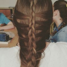The second hairstyle I've made for my good friend/classmate.