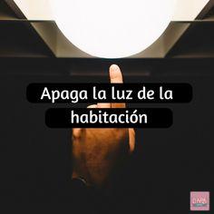 Apaga la luz de la habitación  #Fitness #VidaSana #DARAGourmet