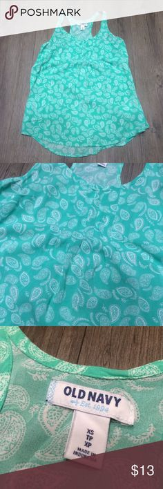 Tank Top Old Navy tank top. Size XS. Great condition! Old Navy Tops Tank Tops