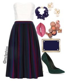 """""""Untitled #56"""" by justina-mcfashionista ❤ liked on Polyvore featuring Yves Saint Laurent, The Great, Kenneth Jay Lane, Valentino, Anne Klein, Lime Crime and Rachel Zoe"""