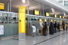 Lufthansa Airport Check-In Area Signs