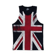 Guy Fawkes Day Union Jack Distressed British Flag Mask All Over Mens Tank Top