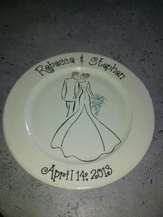 Wedding platter hand painted at Daydreams Ceramic Cafe
