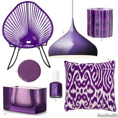 Color Obsession of the Week:Deep Violet Royal Purple Color, Purple Love, All Things Purple, Shades Of Purple, 50 Shades, Purple Home Decor, Purple Interior, Living Room Color Schemes, Living Room Colors