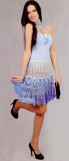 Knee length crochet skirt PATTERN crochet by FavoritePATTERNs
