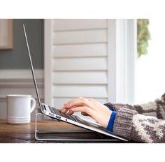 Twelve South ParcSlope for MacBook. Lift your MacBook and tilt for comfortable typing. Laptop Desk, Laptop Stand, Notebook Laptop, Electronics Gadgets, Technology Gadgets, Linux, Best Smart Lights, Digital Nomad, Macbook Air