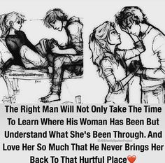 This WHY I've always said Bob was my Knight in shining armor, he just loved me for me & never let me even look back at that place again!  I love you more than ever before even though your with God I know you're  with me my darling!  Thank you for a fabulous love & life with you honey!