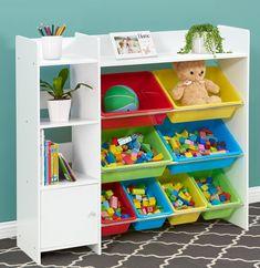 Toy Storage Solutions, Toy Storage Bins, Toy Shelves, Toy Bins, Toy Organization, Small Storage, Storage Spaces, Storage Organizers, Shelf Organizer