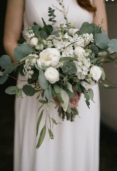 Top 6 Sage Green Wedding Color Palettes---Sage & White simple and elegant wedding bouquet for spring / fall garden weddings, classy country wedding ideas. elegant wedding Sage Green Weddings-Top 6 Color Palettes for a Memorable Winter Day Cascading Wedding Bouquets, Bride Bouquets, Bridal Flowers, Flower Bouquet Wedding, Bridesmaid Bouquets, Bridesmaids, Green Wedding Flower Arrangements, Country Wedding Bouquets, Beach Weddings