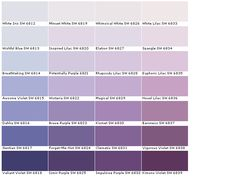 Sherwin Williams White Iris Wishful Blue Breathtaking Awesome Violet Dahlia Gentian Valiant Minuet Inspired Lilac Potentially Purple Wisteria