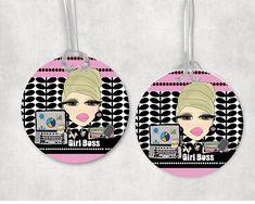 Luggage bag tag tote bag tag brief case bag tag  Girl Boss