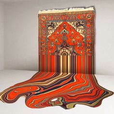 Couldn't believe this was embroidered  installation by Faig Ahmed #faigahmed #embroidery #meltingcarpet