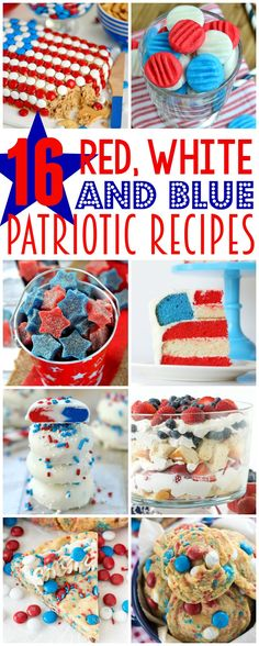 Celebrate this 4th of July weekend with all things red, white, and blue! Amazing Red, White, and Blue Patriotic Recipes here for you to enjoy!