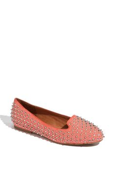 birthday present for myself! jeffrey campbell martini spiked loafer flats