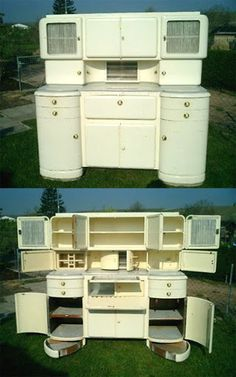 Art Deco European kitchen hutch