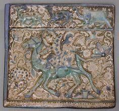 Tile Depicting Bahram Gur and Azada