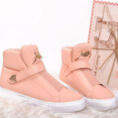 ruzove-kotnikove-topanky-pre-damy Puma Fierce, Designer Shoes, High Tops, High Top Sneakers, Slip On, Wedges, Sport, Pink, Fashion